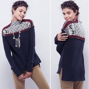 Free People Snow Bunny Fair Isle Pull Over